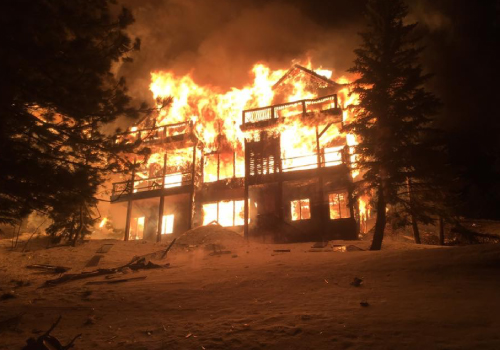 House fire in Mammoth Lakes